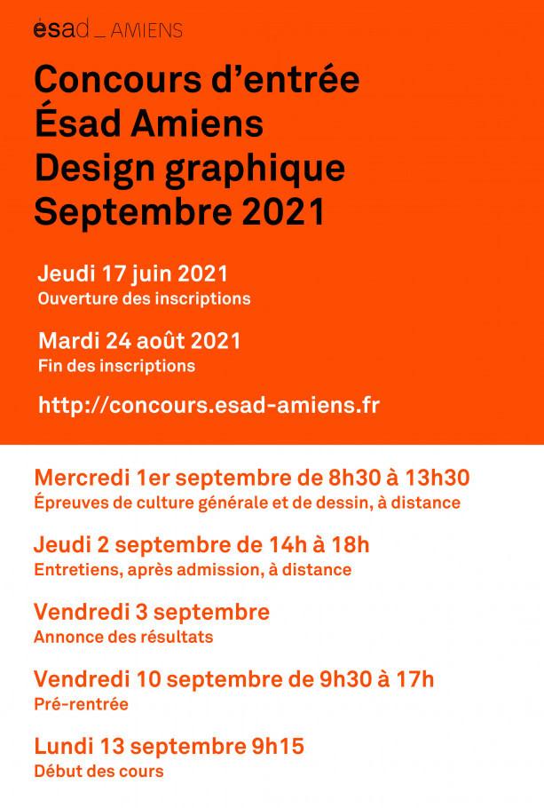 Session de septembre 2021 : concours d'entrée design graphique de l'ésad d'Amiens