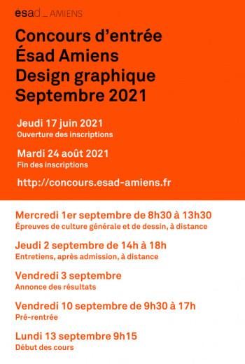 Concours d'entrée : Session de septembre Session de septembre 2021 : concours d'entrée design graphique de l'ésad d'Amiens