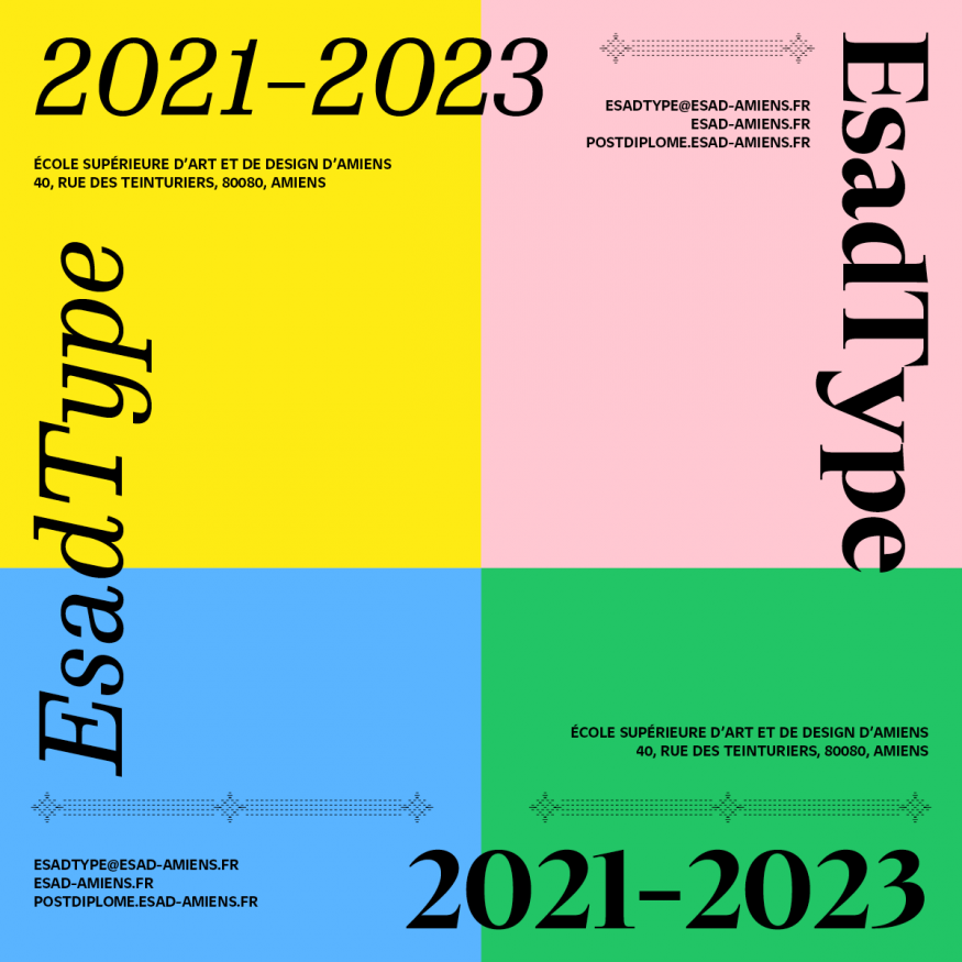 EsadType 2021-23 : appel à candidatures/call for applications
