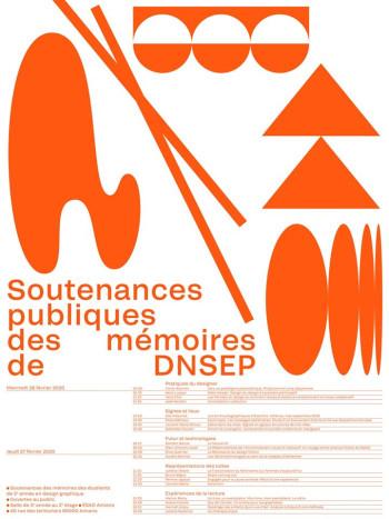 Soutenances publiques des mémoires de DNSEP.