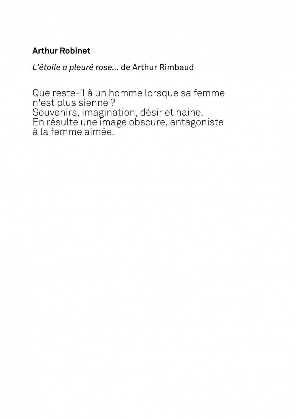 Rapport Texte/Image